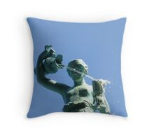 Fountain in Chestertown, Maryland Throw Pillow