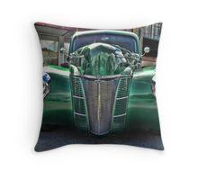Mean Green Machine Throw Pillow