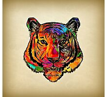 Colorful tiger Photographic Print