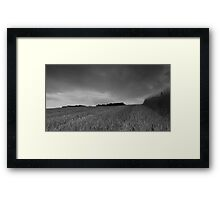 Farm on the hill Framed Print