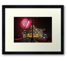 Queen Mary Fireworks 1 Framed Print