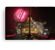 Queen Mary Fireworks 1 Canvas Print
