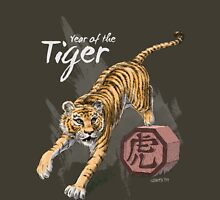 Year of the Tiger by Stephanie Smith (for dark shirts) Unisex T-Shirt