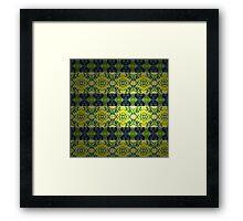 Pattern 5 - Millennium Linoleum Framed Print