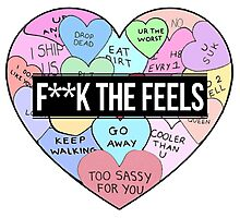 F***k the Feels Hearts Photographic Print
