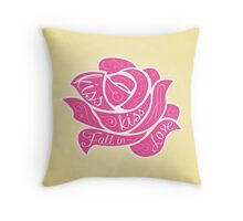 Kiss Kiss Fall in Love Throw Pillow