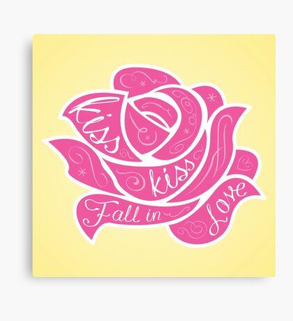 Kiss Kiss Fall in Love Canvas Print