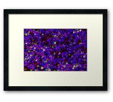 Glowing Purple Framed Print