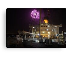 Queen Mary Fireworks 4 Canvas Print