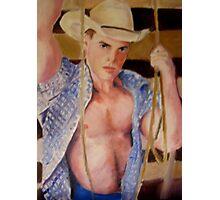 Roping Cowboy Photographic Print