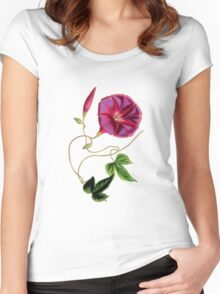 Flower..... Women's Fitted Scoop T-Shirt