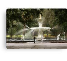 Forsyth Square Fountain Canvas Print