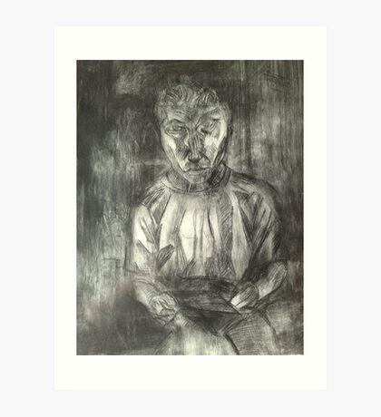Artist drawing Art Print