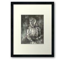 Artist drawing Framed Print