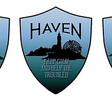 Haven Keep Calm Blue Badge Logo 2 by HavenDesign