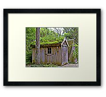 Barn with green roof Framed Print