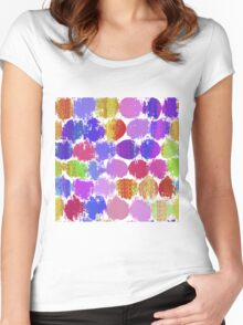 Painted Dots background Women's Fitted Scoop T-Shirt