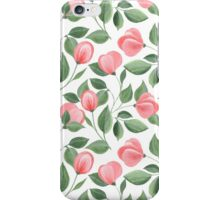Romantic flowers. Hand drawn floral pattern. Seamless iPhone Case/Skin