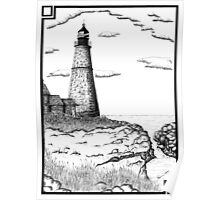 Simple Lighthouse Poster