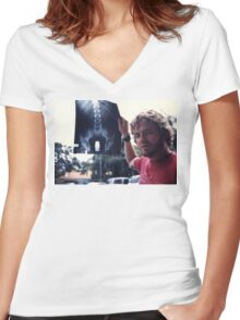 Ryan Dunn Women's Fitted V-Neck T-Shirt