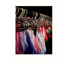 Colours & Coat Hangers (Orange Grove Markets) Art Print