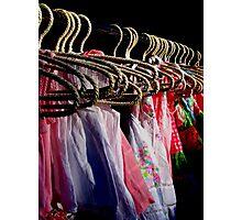 Colours & Coat Hangers (Orange Grove Markets) Photographic Print