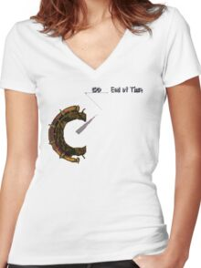 Chrono Trigger - Time Travel Dial Women's Fitted V-Neck T-Shirt