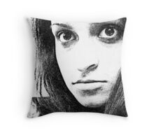 Tired eyes...  Throw Pillow
