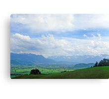 View from Appenzell Switzerland Canvas Print