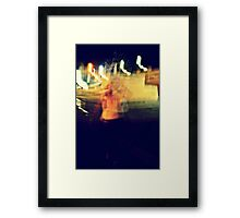 and there's gold falling from the ceiling of this world Framed Print