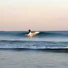 Lone Surfer at Dusk by Kitsmumma