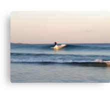 Lone Surfer at Dusk Canvas Print