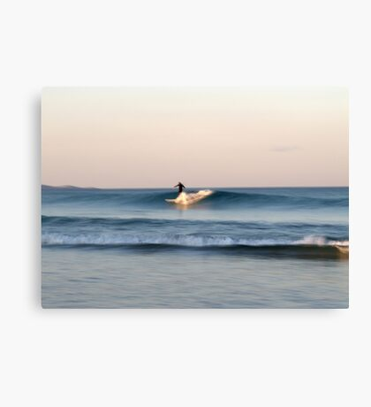 Lone Surfer at Dusk Canvas Print