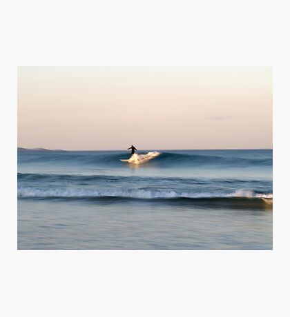 Lone Surfer at Dusk Photographic Print