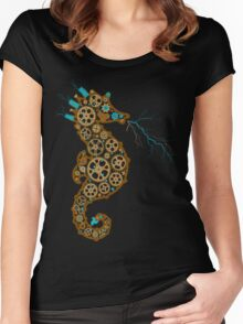 Steampunk Seahorse Women's Fitted Scoop T-Shirt
