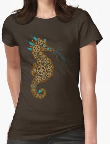 Steampunk Seahorse Womens Fitted T-Shirt