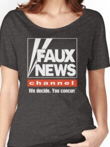 Faux News Channel Women's Relaxed Fit T-Shirt