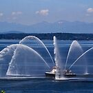 Seattle Fireboat by Barbara  Brown