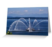Seattle Fireboat Greeting Card