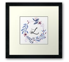 Flowers and the Letter L Framed Print