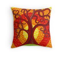 Autumn Illuminated Tree Throw Pillow