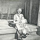 My Grandma Pencil Drawing by Charlotte Yealey