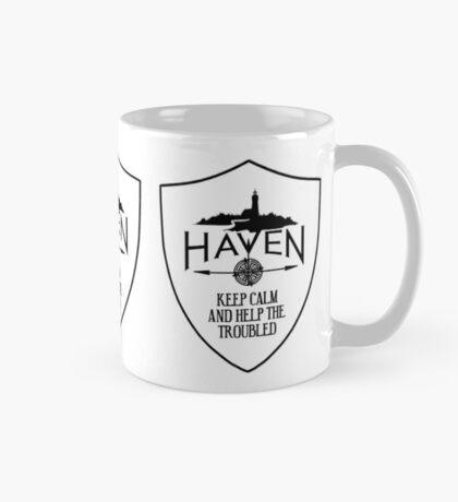 Haven Keep Calm White Badge Logo 2 Mug