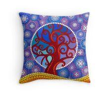 moontime illuminated orb tree Throw Pillow