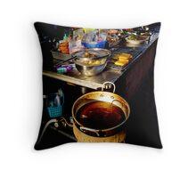 Street Kitchen Throw Pillow