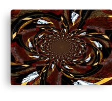 pieces of the clock.. Canvas Print
