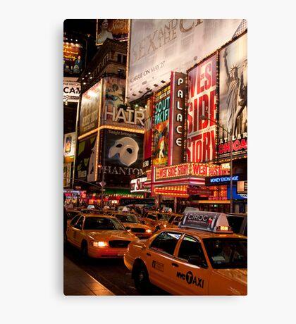 Times Square Traffic Canvas Print