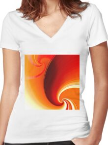 Autumn Whirl Women's Fitted V-Neck T-Shirt