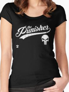 Team Punisher - Cloud Nine Edition (White) Women's Fitted Scoop T-Shirt