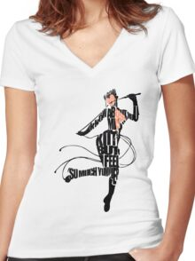 Catwoman Women's Fitted V-Neck T-Shirt
